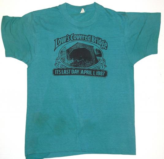 Vintage 1987 Low's Covered Bridge Guilford Maine T-Shirt 80s