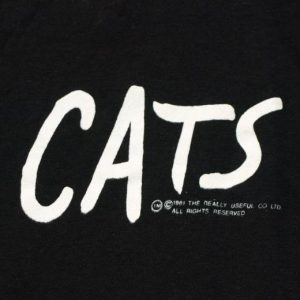 Vintage 1980s Broadway CATS Musical T Shirt