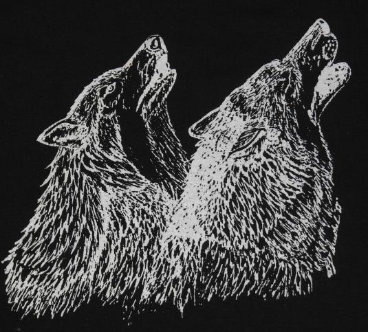 Vintage 1980s Alaska Hybrid Wolf Black T-Shirt 80s