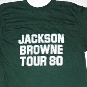 Vintage 1980 Jackson Browne Hold Out Baseball Tour Shirt