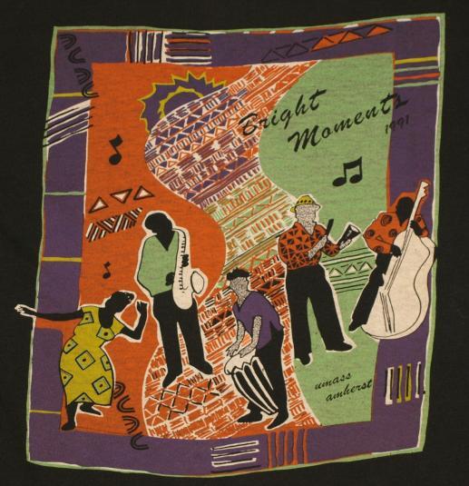 Vintage 1991 UMASS Jazz Festival Abstract Music T-Shirt