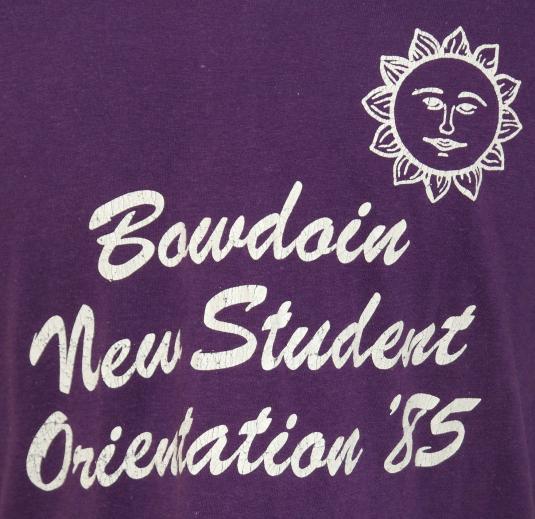 Vintage 1980s 1985 BOWDOIN College New Student T-Shirt