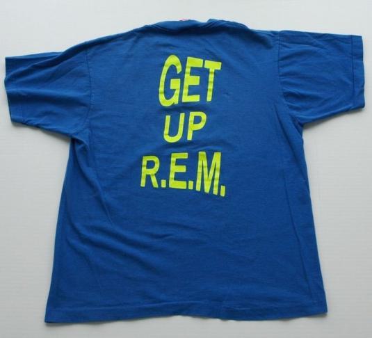 Vintage 1980s 1989 R.E.M. REM Get Up Concert Tour T Shirt