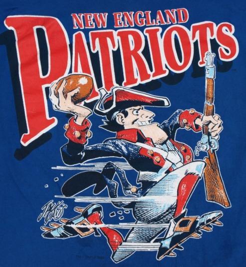1988 New England Patriots Mascot T Shirt