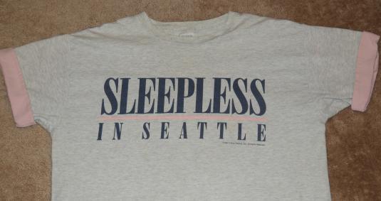 Vintage 1993 Sleepless in Seattle Movie T-shirt 1990s