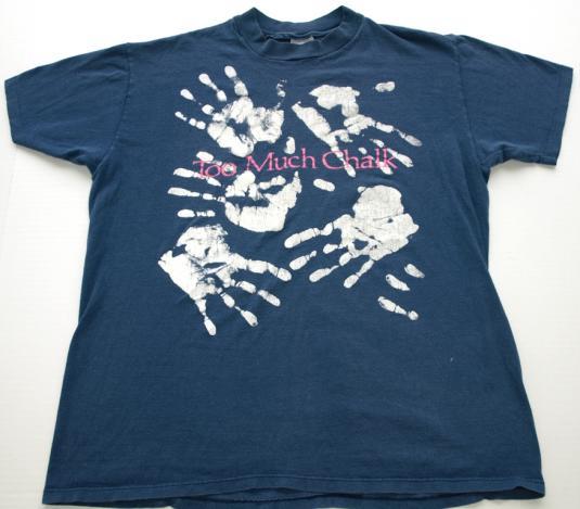 Vintage 1980s Chalk Hand Print T Shirt