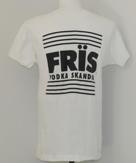 Vintage 1980s FRIS VODKA White Screen Stars T-Shirt 80s