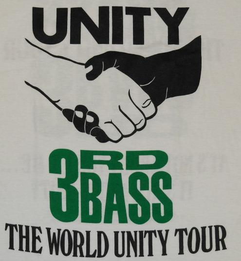 Vintage 1991 3rd Bass Unity Hip Hop World Tour T-Shirt 90s