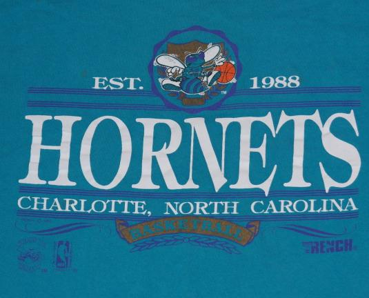 Vintage 1990s Charlotte Hornets NBA Basketball T-Shirt