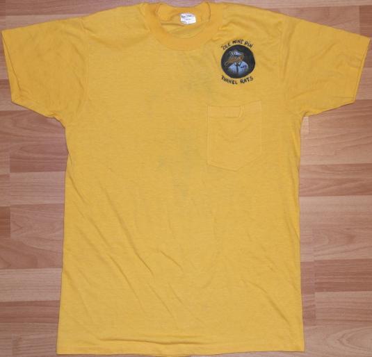 Vintage 1970s TUNNEL RATS Bowling Art T-Shirt Handmade 70s