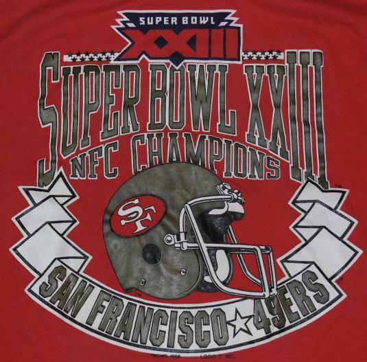 Vintage 1988 San Francisco 49ers Super Bowl T-Shirt 80s