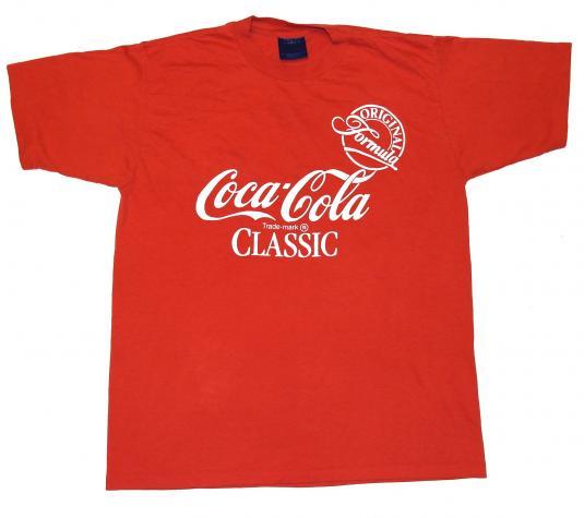 Vintage 1980s Original Coca Cola COKE Logo T-Shirt 80s