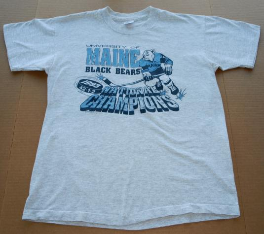 1992-93 Maine Black Bears College Hockey Champions T Shirt