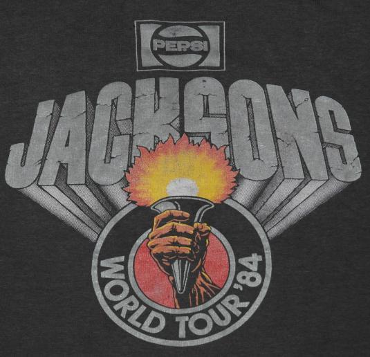VTG 1984 THE JACKSON World Tour Micheal Jackson T-Shirt