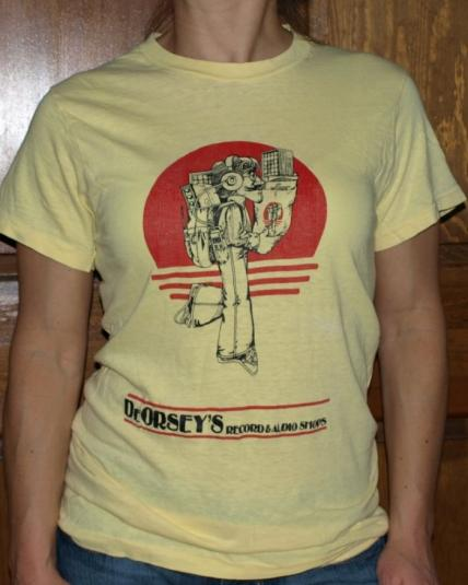 Vintage 1970s Bell Bottom Dorseys Record Shop T Shirt