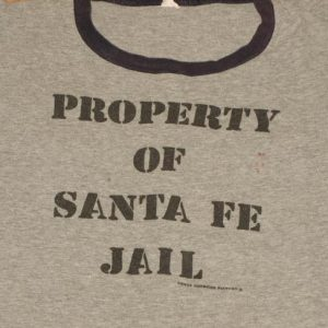Vintage 1980s Sante Fe Jail Ringer Grey T-Shirt