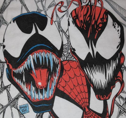 VINTAGE 1992 SPIDEY & VENOM MARVEL COMICS Spiderman T-Shirt