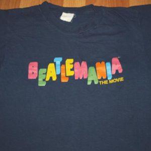 Vintage Beatlemania Movie T Shirt The Beatles Blue
