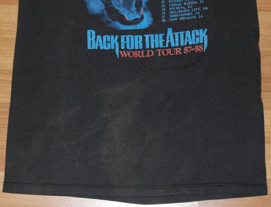 Vintage 1987 DOKKEN Rock Back for the Attack Tour T-Shirt