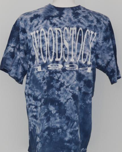 Vintage 1990s WOODSTOCK '94 1994 Concert Tie Dye T-Shirt