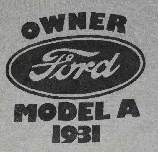 Vintage 1980s 1931 FORD Owner Screen Stars T-Shirt 80s