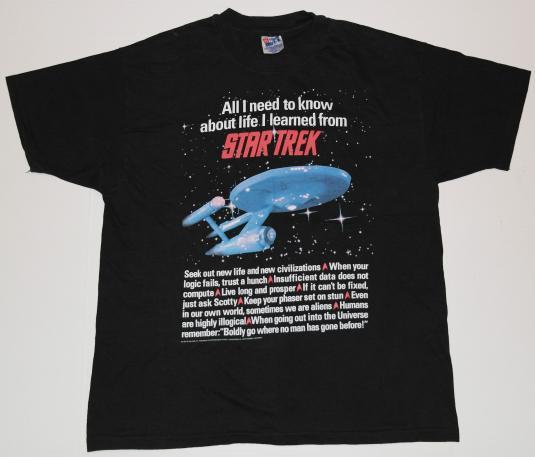 Vintage 1990s STAR TREK Enterprise Space Ship T-Shirt 90s
