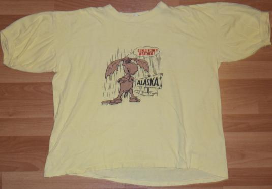 Vintage 1980s ALASKA MOOSE SUMBITCHEN Weather Funny T-Shirt