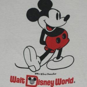 VIntage 1980s Mickey Mouse Walt Disney World Ringer T-Shirt
