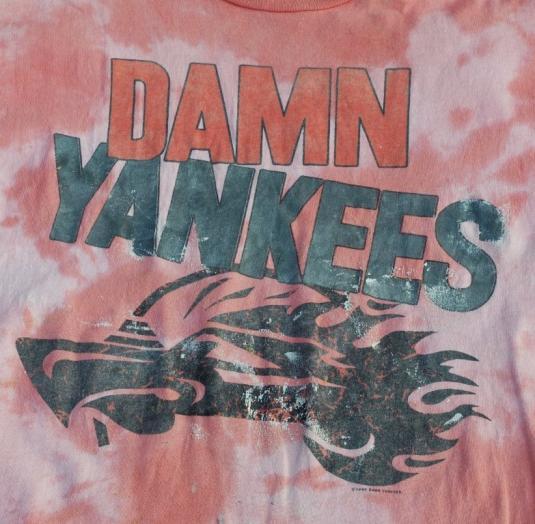 1990 DAMN YANKEES Tour Shirt YANK THIS