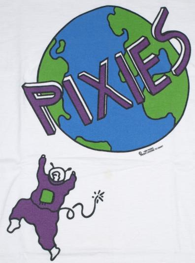 Vintage 1992 PIXIES Trompe Le Monde Concert Tour Shirt RARE