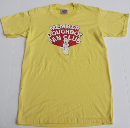 1987 80s Pillsbury Doughboy Fan Club Member Shirt 50/50