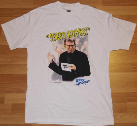 Vintage 1990s JERRY SPRINGER Rocks T-Shirt