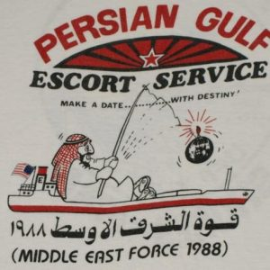 VTG 1988 RARE Persian Gulf Escort Middle East Force T-shirt