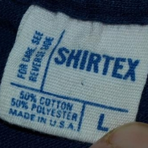 Vintage 1980s 80s Boston Massachusetts Mass Navy Blue Shirt