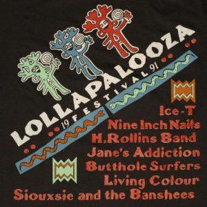 VTG 1991 LOLLAPALOOZA T-Shirt NIN Janes Addiction Siouxsie