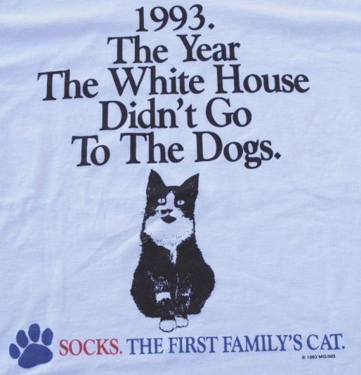 1993 Socks The Cat President Clinton First Family Shirt