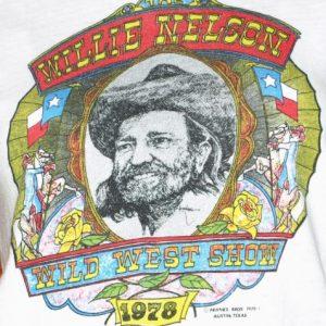 Vintage 1970's WILLIE NELSON Wild West Show Tour T-Shirt