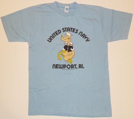 VTG 1982 POPEYE United States Navey Newport RI 1980s T-Shirt