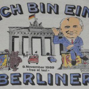 VTG 1989 Soviet Union Gorbachev Ich Bin Ein Berliner T-Shirt