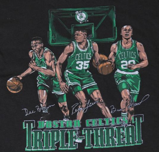 VTG 90s Boston Celtics REGGIE LEWIS Dee Brown NBA NEVER WORN