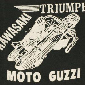 Vintage Moto Guzzi TRIUMPH Kawaski Motorcyle Biker T Shirt