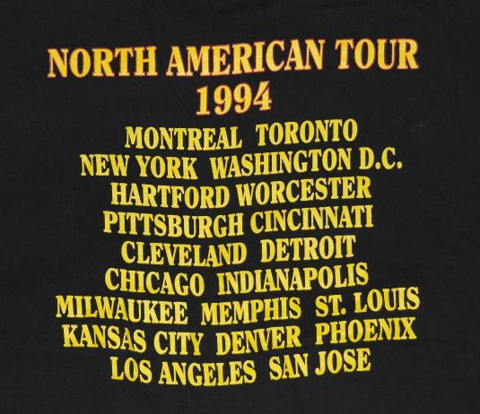 Vintage 1994 Eric Clapton Rock Concert Tour T-shirt