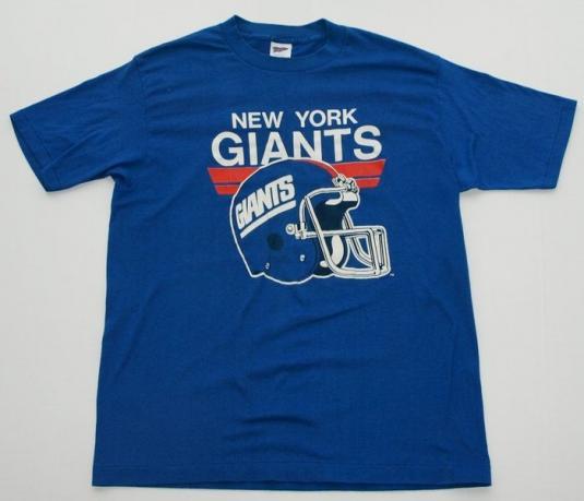 Vintage 1980s New York Giants Football Helmet Logo Shirt