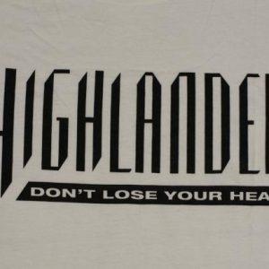Vintage 1990s HIGHLANDER Swords 2-Sided T-Shirt