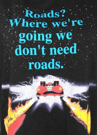 Vintage 1990s BACK TO THE FUTURE DeLorean T-Shirt BTTF