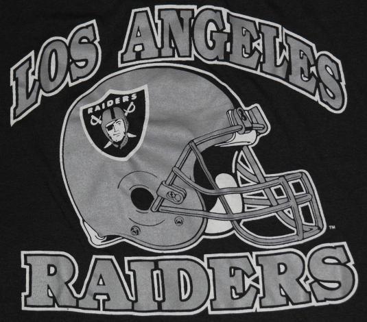 Vintage 1980s Los Angeles LA RAIDERS NFL Football T-Shirt