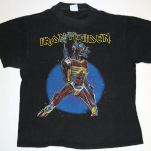 Vintage IRON MAIDEN Somewhere In Time T-Shirt 1987
