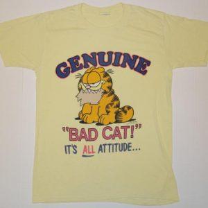 Vintage 1980s GARFIELD Bad Cat Attitude T-Shirt