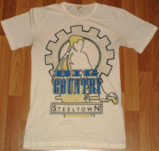 Vintage 1980s BIG COUNTRY Steeltown T-Shirt 1984