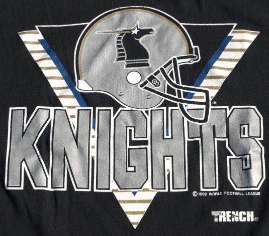 Vtg New York New Jersey KNIGHTS T Shirt WFL World Football